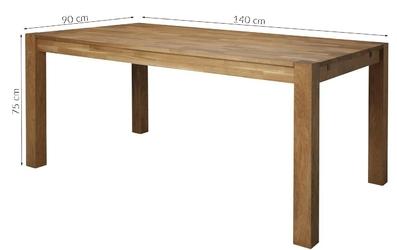 Stół z dębowym blatem agnes 140x90 drewniany