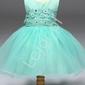 Turkusowa tiulowa sukienka z koronkową górą dla dziewczynek