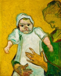 Madame roulin and her baby, vincent van gogh - plakat wymiar do wyboru: 40x60 cm