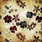 Plakat na papierze fotorealistycznym starodawny stary papier z kwiatami
