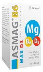 Asmag b6 max + d3 x 50 tabletek