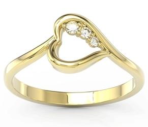 Pierścionek z żółtego złota z brylantami bp-82z - żółte  diament