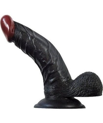 Dildo z przyssawką-czarne