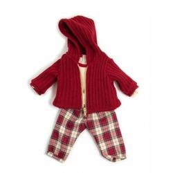 Ubranko dla lalki 40 cm spodnie w kratę i sweterek
