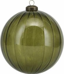 Bombka przezroczysta zielona House Doctor 12 cm