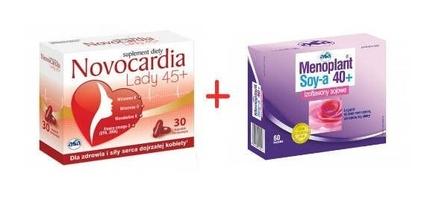 Menoplant soy-a 40+ x 60 kapsułek + novocardia lady 45+ x 10 kapsułek gratis