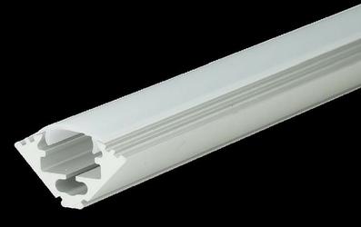 Profil aluminiowy nieanodowany + przesłona mleczna - m3