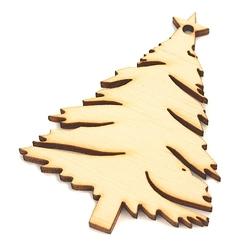 Drewniana dekoracja świąteczna choinka pełna - cho2