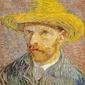 Autoportret w kapeluszu słomkowym, vincent van gogh - plakat wymiar do wyboru: 60x80 cm