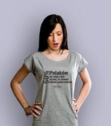 50 polaków t-shirt damski jasny melanż xxl