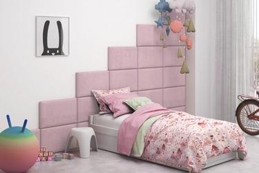 Różowe panele tapicerowane italia 50cm x 30cm na wezgłowie zagłówek