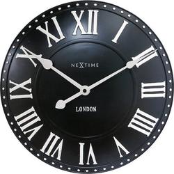 Zegar ścienny london roman czarny
