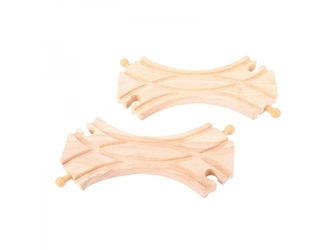 Drewniany podwójny rozjazd