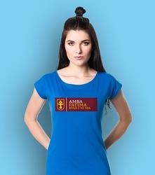 Amba fatima t-shirt damski niebieski s