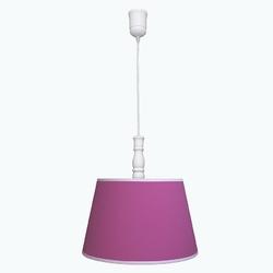 Lampa wisząca roomee decor - amarantowa z białą lamówką