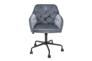 Tapicerowane krzesło biurowe dutch  szare