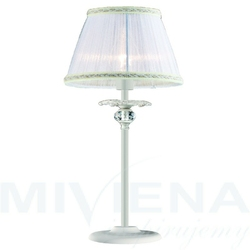Arthur lampa stołowa 1 bialy kryształ abażur