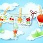 Plakat transport, ilustracji dla dzieci