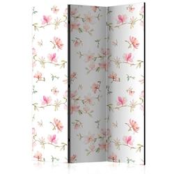 Parawan 3-częściowy - świeże magnolie room dividers