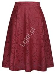 Koronkowa spódnica w kolorze wina 236