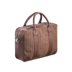 Skórzana brazowa torba biznesowa na laptopa sempertus