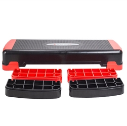 Step do aerobiku as005 czarno-czerwony - hms