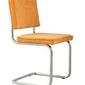 Zuiver :: krzesło tapicerowane ridge rib żółte