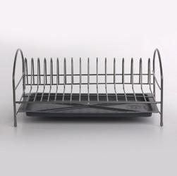 Suszarka do naczyń stojąca  na blat kuchenny z tacką jednopoziomowa metpol srebrna 40 cm