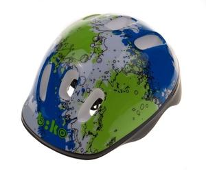 Kask biko kid niebiesko-zielony hm-bi105-1