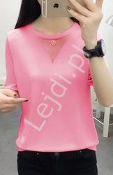Różowy sweterek letni z rękawem 12 - 3397