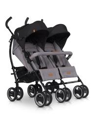 Easygo duo comfort grey fox wózek bliźniaczy + torba dla mamy gratis