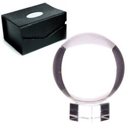 Szklana kula o średn. 8 cm, z podstawką
