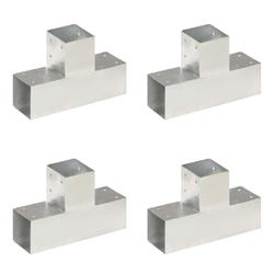 Vidaxl łączniki w kształcie t, 4 szt., galwanizowany metal, 91x91 mm
