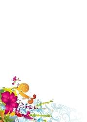 Kwiaty i motyle tablica suchościeralna magnetyczna 102