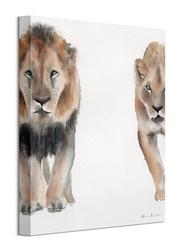Lew i lwica - obraz na płótnie