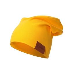 czapka podwójna żółta