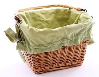 Wyściółka do koszyka cordura zielona
