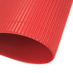 Tektura falista fala e 25x35 cm folia - czerwona - cze