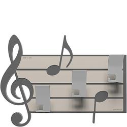 Wieszak ścienny dekoracyjny Puccini CalleaDesign szary 51-13-3-3