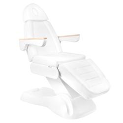 Elektryczny fotel kosmetyczny lux 273b 2 silniki biały