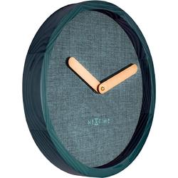 Zegar ścienny nextime calm 30 cm, turkusowy 3155 tq