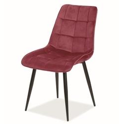 Pikowane krzesło tapicerowane tkaniną aksamitną chic velvet