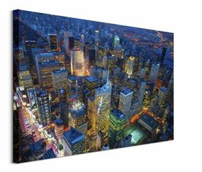 Manhattan at Night - obraz na płótnie