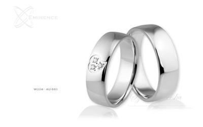 Obrączki ślubne - wzór au-661