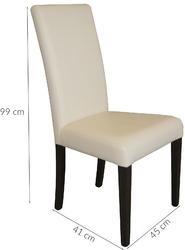 Krzesło do jadalni witold 1 czarnebiałe