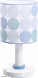 Lampka nocna duże grochy kropki niebieska