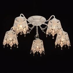 Ażurowa, delikatna biała lampa sufitowa pauline mw-light elegance 472011205