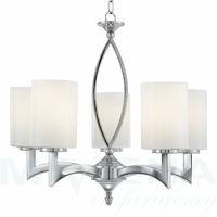 Gina lampa wisząca 5 chrom szkło