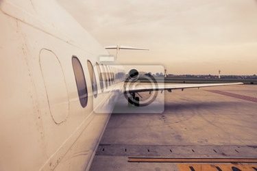 Fototapeta samolot na lotnisku