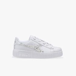 Sneakersy dziewczęce diadora game step ps - srebrny